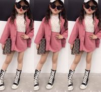 2pcs Toddler Girls Suits for Spring 2019 Blazers Skirts Sets for Baby Girls Children Blazers Sets Clothes for Children Girls Set