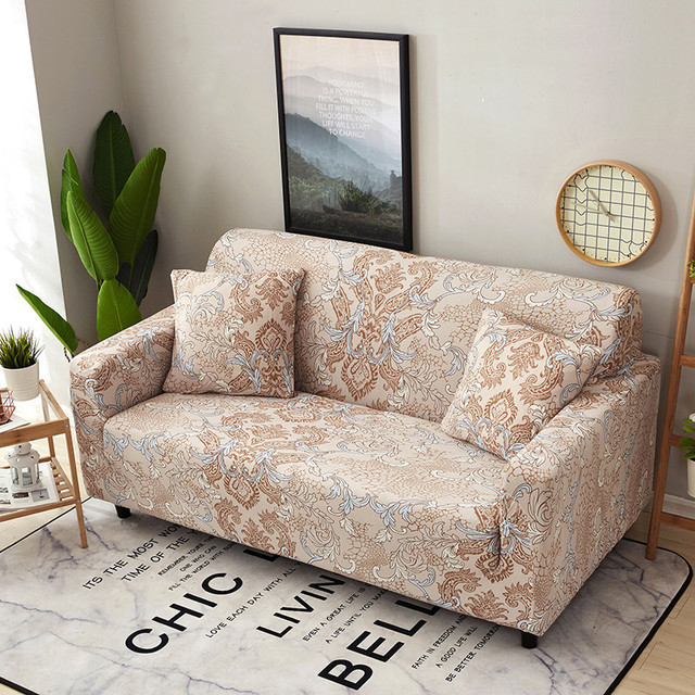 Us 21 29 30 Off Pastoral Stretch Sofa Covers With Cushion Cover Elastic Furniture Protector Loveseat Couch Sofa Cover Single Double Three Seat In