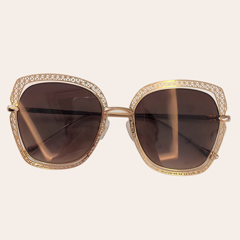 Metal Frame Gradiente Tonalidades Quadrados Óculos De Sol Das Mulheres 2019 Marca Designer de Moda Das Mulheres Do Vintage Óculos de Sol Oculos de sol UV400 - 4
