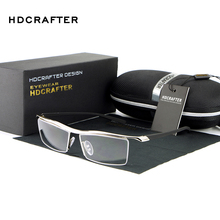 HDCRAFTER 2018 Eyewear Rimless Square Myopia Glasses Frame Men Brand Comfortable Slip resistant Eyeglasses Frames for Men