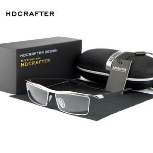 Image 1 - HDCRAFTER 2018 Gözlük Çerçevesiz Kare Miyopi Gözlük Çerçevesi Erkekler Marka Rahat Kayma dayanıklı Gözlük Çerçeveleri Erkekler için