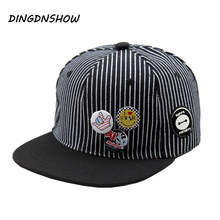 2018 New Baseball Cap Snapback Cap Children Stripe Casquette Gravity Falls Acrylic Gorras Planas Hip Hop Hats for Boys and Girls(China)