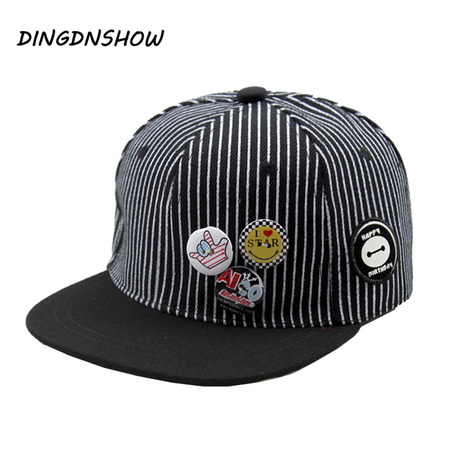 c3f1e1d6f2e94 2018 New Baseball Cap Snapback Cap Children Stripe Casquette Gravity Falls  Acrylic Gorras Planas Hip Hop Hats for Boys and Girls