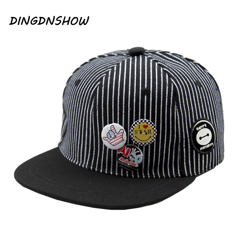 2019 New   Baseball     Cap   Snapback   Cap   Children Stripe Casquette Gravity Falls Acrylic Gorras Planas Hip Hop Hats for Boys and Girls