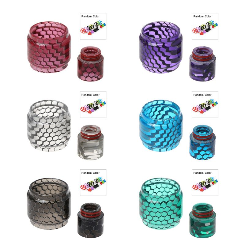 Snake Skin Resin Cobra Drip Tip Connector Replacement Bulb Tube For SMOK TFV12 Prince Tank Atomizer Fit Mag