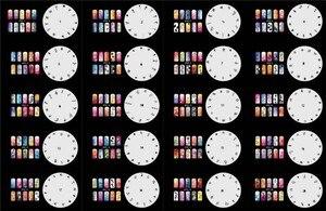 ABEST многоразовый Аэрограф для дизайна ногтей трафарет-20N трафарет