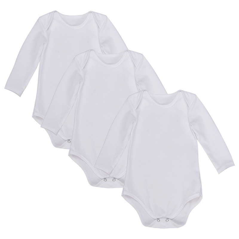 3 шт./партия, Детские боди, одежда с длинными рукавами, однотонный белый и черный цвет, для новорожденных, унисекс, для мальчиков и девочек, Летний комбинезон для младенцев