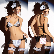 Sexy Erotic Maid Lingerie Costume Underwear Set