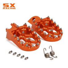 цена на Motorcycle Aluminum Foot Pegs Footpeg Pedals FootRest For KTM EXC SX SXS SXF XC XCF XCW XCFW Six Day 125 150 250 350 450 525 530