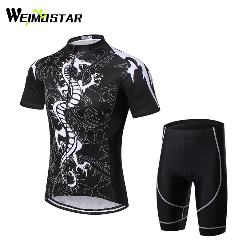 WEIMOSTAR Team Wear Ropa Ciclismo Cycling Jersey Suit Outdoor Sports Clothing Bike T-Shirts Short Sleeve Bib Shorts Sets Dragon santic short sleeve cycling jersey bib shorts pad sets conjunto ciclismo manga cycling bike sports clothing mct031