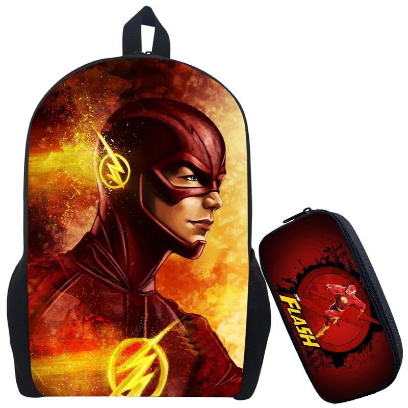 The Flash Backpack Kids School Bags Cute Boy Arrow Bag Child Mochila