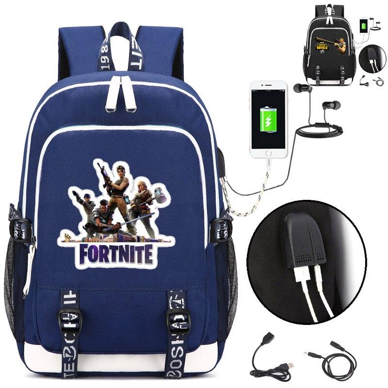 Fortnite рюкзак с зарядка через USB Порты и разъёмы и замок и наушники интерфейс для Колледж студенческие работы