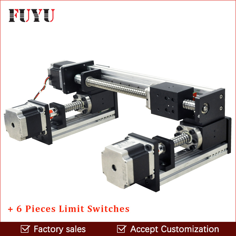 Free shipping factory sale motorized ball screw linear guide rail XY stage motion slide table motor for engraving machine parts free shipping factory sale ball screw linear guide rail xyz motorized stage table robotic arm z axis 300mm with motor