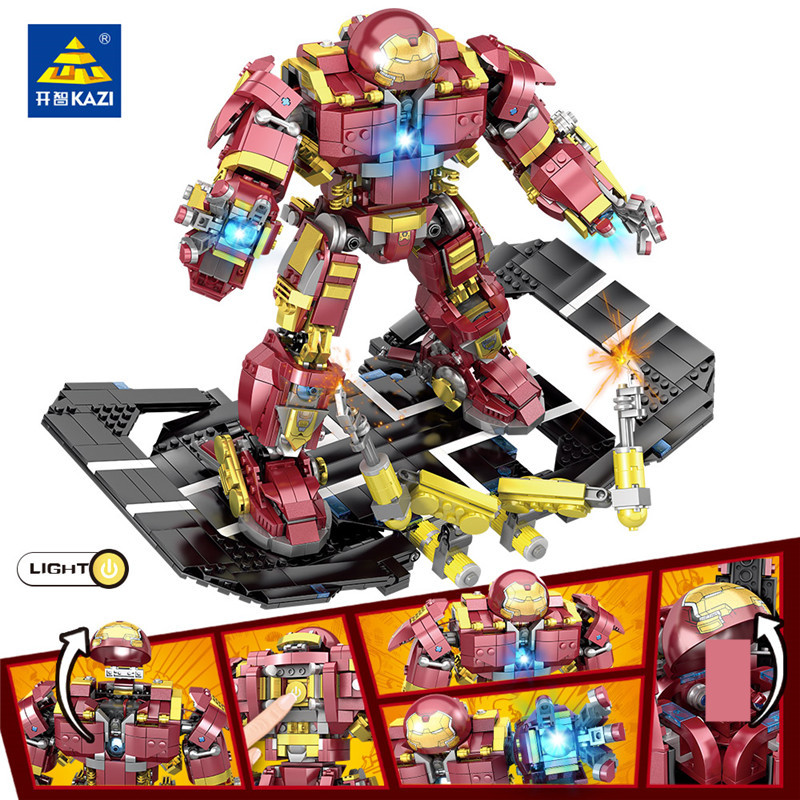 1620Pcs Super Heroes Iron Man Hulk Buster Bricks Figures Robot Warriors Building Blocks Sets Educational Toys