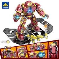 1620Pcs Super Heroes Hulkbuster Iron Man Hulk Buster Bricks Robot Warriors Building Blocks Set LegoINGs Bricks Toys for Children