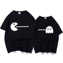 Summer New Couple T-shirt for Lovers Cartoon Print T-shirt Female Cotton Short Sleeve O Neck Women's T Shirts Funny Tops Shirt