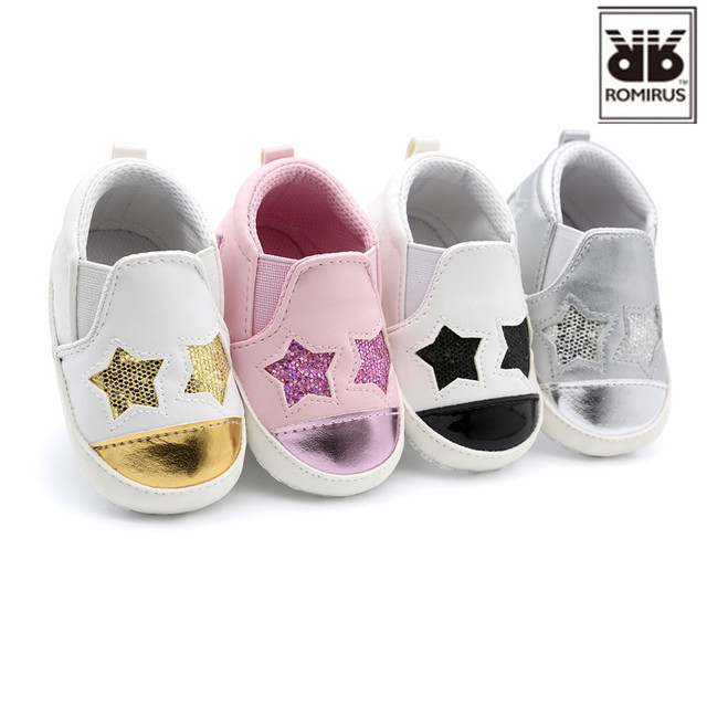 New Fashion Star Baby shoes Newborn Boys Girls First Walkers Infant Toddler  Soft Bottom Anti- c551c230685e