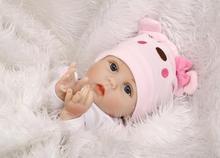 55 cm Corpo Mole Silicone Renascer Bebê Boneca de Brinquedo Para Meninas Presente de Aniversário Para A Criança Antes de Dormir Do Bebê recém-nascido Menina Precoce Educação brinquedo