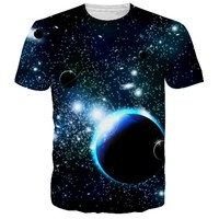 2018 New Summer T Shirts Men 3D Printed Outer Space/Space Galaxy Tshirt Poleras Hombre Cotton Tops Tees Brand T-shirts 5XL