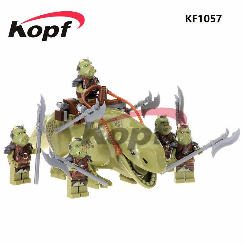 KF1057 Bricks Dewback Jabba's Rancor Gamorrean Guard Ewok Battle Of Endor With Weapon Building Blocks Children Gift Toys PG742