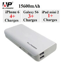 ALLPOWERS 15600mAh External Battery Pack Phone Battery Charger Portable Power Bank for iPhone Samsung HTC Xiaomi Huawei Sony etc