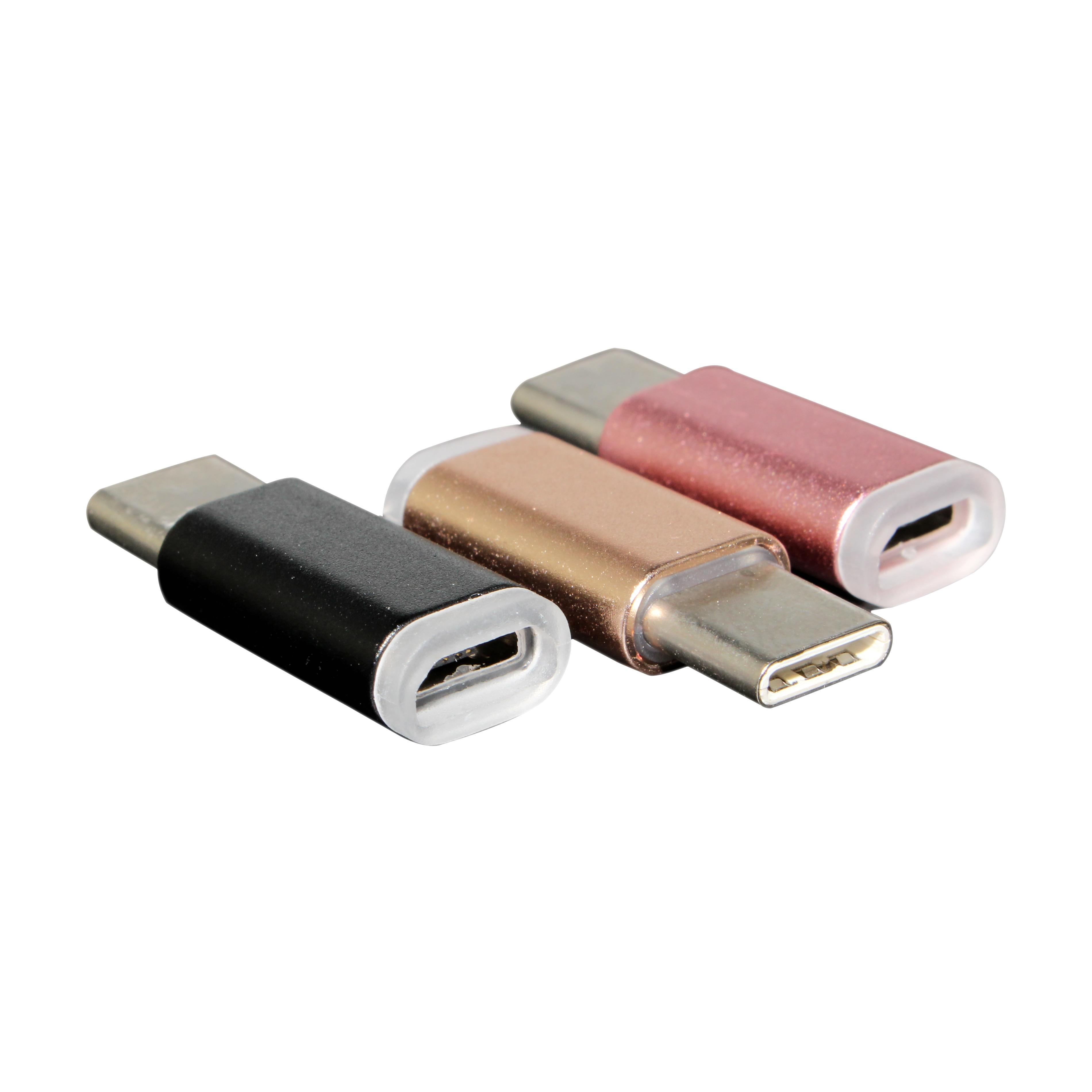Caja de aluminio micro usb conversor de tipo C adaptador de tipo C 3,1 cable adaptador párr lg g5 nexus 5x 6p para xiaomi 4c