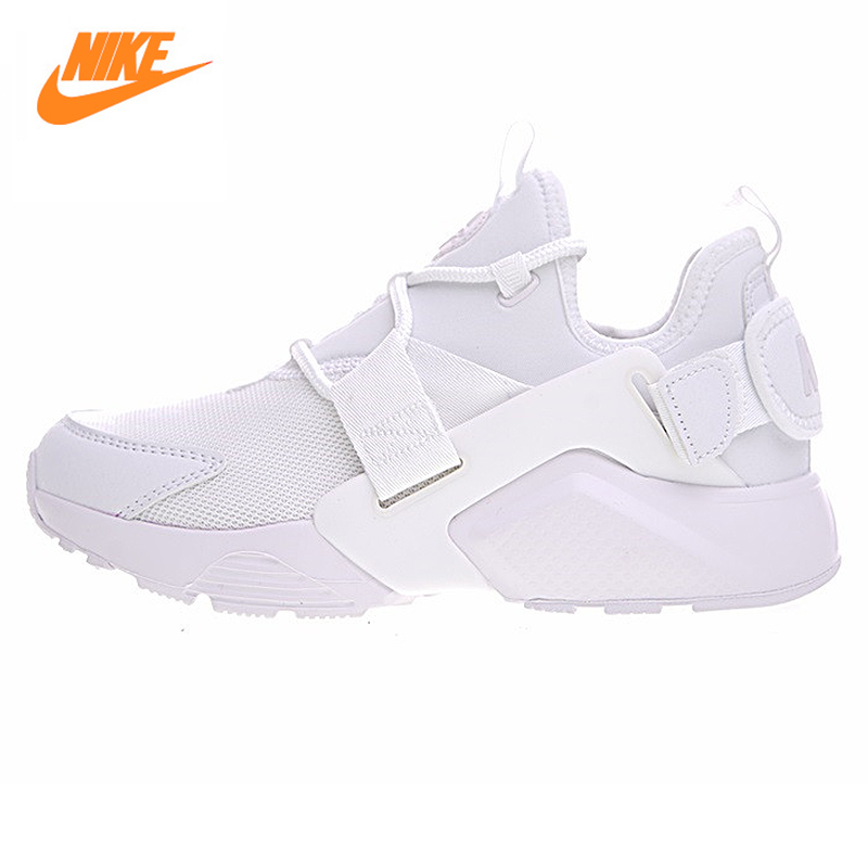 Nike AIR HUARACHE CITY LOW Women's Running Shoes Sneakers.White meri huarache shoes