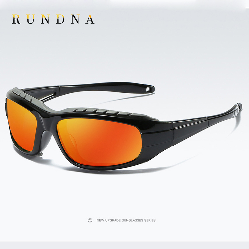 Rundna Wind-Proof Polarized Sport Sunglasses Outdoor Cycling Bike Riding Ski Goggles Flash Red Mirrored Running Golf Sunglasses воск kapous professional воск в кассетах с эфирным маслом петит грея 100 мл