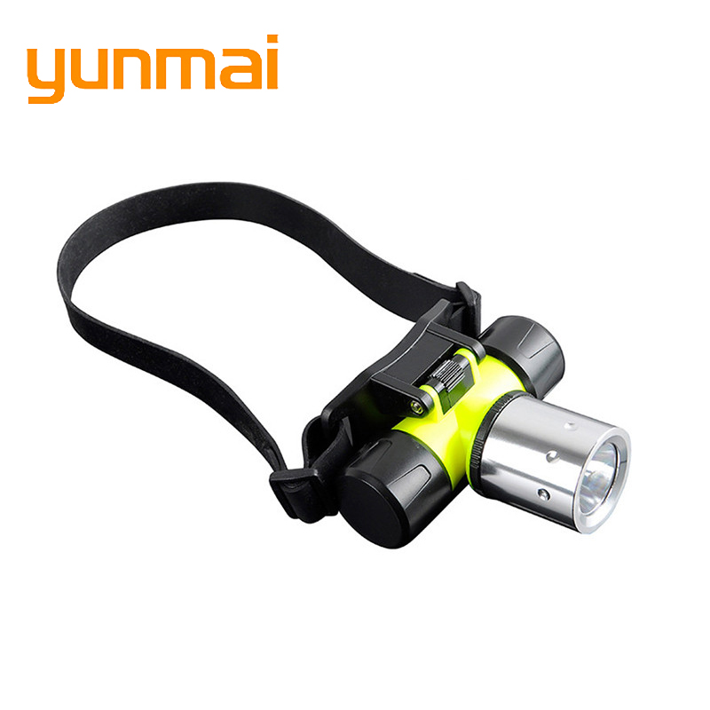 Underwater 2000 Lumen XM-L XML T6 Headlamp LED Waterproof 60m Swimming Diving Headlight Dive Head Light Torch Lamp[6800-T6]