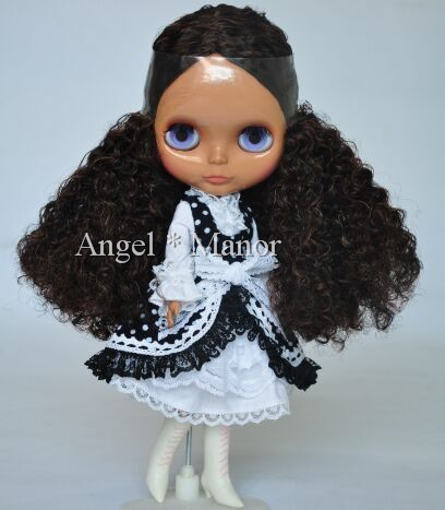 Free shipping Nude Blyth Doll, black hair,Dark skin, big eye doll,Fashion doll Suitable For DIY Change BJD , For Girl's Gift blyth nude doll for series no 230bl117bangs joint body black hair suitable for diy change bjd toy for girls