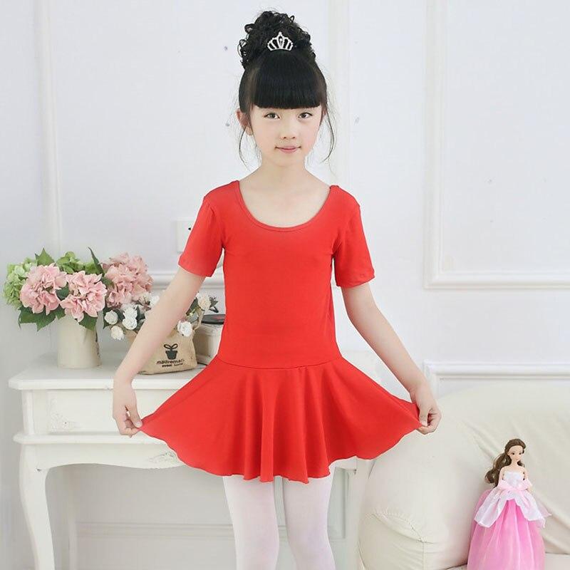 Girl Ballet Dance Clothes 2018 Summer Children Practice Dress Competition Performance Skirt Girls Gymnastics Leotard Dance Dress