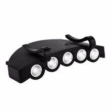 5LED Super Bright Cap Light Headlight HeadLamp Head Flashlight Head Cap Hat Light Clip On Light Fishing Head Lamp стоимость