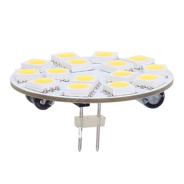 15 LED G4 tablero redondo SMD 5050 voltaje ancho AC/DC10-30V Pin trasero blanco Ingeniería Comercial interior 20 unids/lote Matamoscas eléctrico multifunción LED, matamoscas, matamosquitos, matamoscas, matamosquitos, sin batería