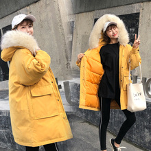цена на New Winter Jacket Women Faux Fur Hooded Parka Coats Female Long Sleeve Thick Warm Snow Wear Jacket Coat Mujer Quilted Tops