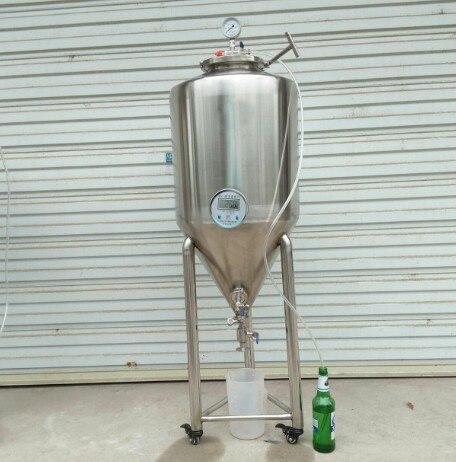 Seconde conique d'acier inoxydable de fermenteur de réservoir de Fermentation de bière de brassage à la maison professionnelle de 65L