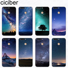 ciciber For Honor V 7A 10 9 8 Pro Lite X C Play Soft TPU Phone Cases For Y 9 7 6 5 3 Prime Pro 2017 2018 2019 Northern Lights(China)