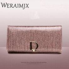 WERAIMJX Damen Leder Brieftaschen Mode-Design Luxus Vollrindleder Hohe Qualität Weibliche Geldbörsen Lange Brieftasche Frauen MJ305
