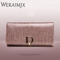 WERAIMJX Ladies Leather Wallets Fashion Design Luxury Genuine Cow Leather High Quality Female Purses Long Wallet Women MJ305