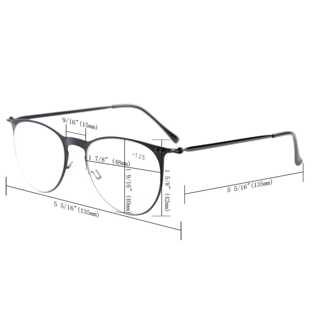 Eyekepper R15019 Dom Lectura Gafas de Sol Retro Marco Redondo ...