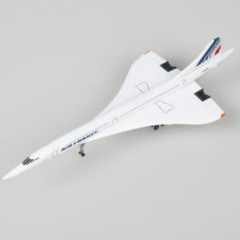 14CM Concorde Air France 1976-2003 Airline Model 1:400 Alloy Collectible Display Toy Airplane Model Collection For Kids Children image