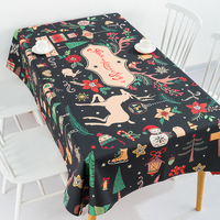 Deer pattern Nordic Thicken Tablecloth Cotton Linen Coffee Tablecloth Restaurant Party Outdoor Home Decoration Table Cloth