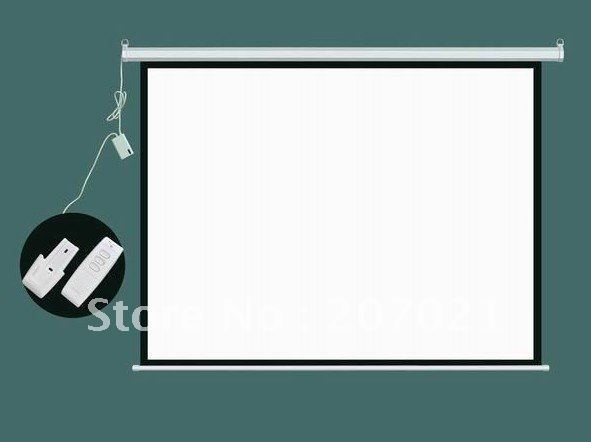 100inch 4 3 matte white portable electric projector for 100 inch motorized projector screen