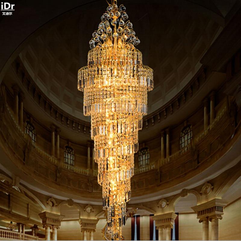 Penthouse grīdas viesistabas kristāla lukturu villas kāpnes Mājas - Iekštelpu apgaismojums - Foto 2
