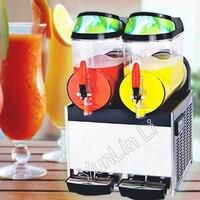 Двойной бак напитков машина Нержавеющаясталь напиток, гранита колотый лед Maker Machine слякоть машина XRJ 10L * 2