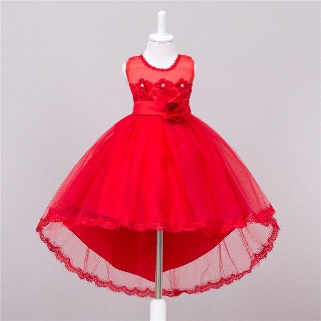 610d04f3c 2018 niñas vestido de fiesta noche cola larga elegante cumpleaños vestido  niña Bebé Vestidos para 2
