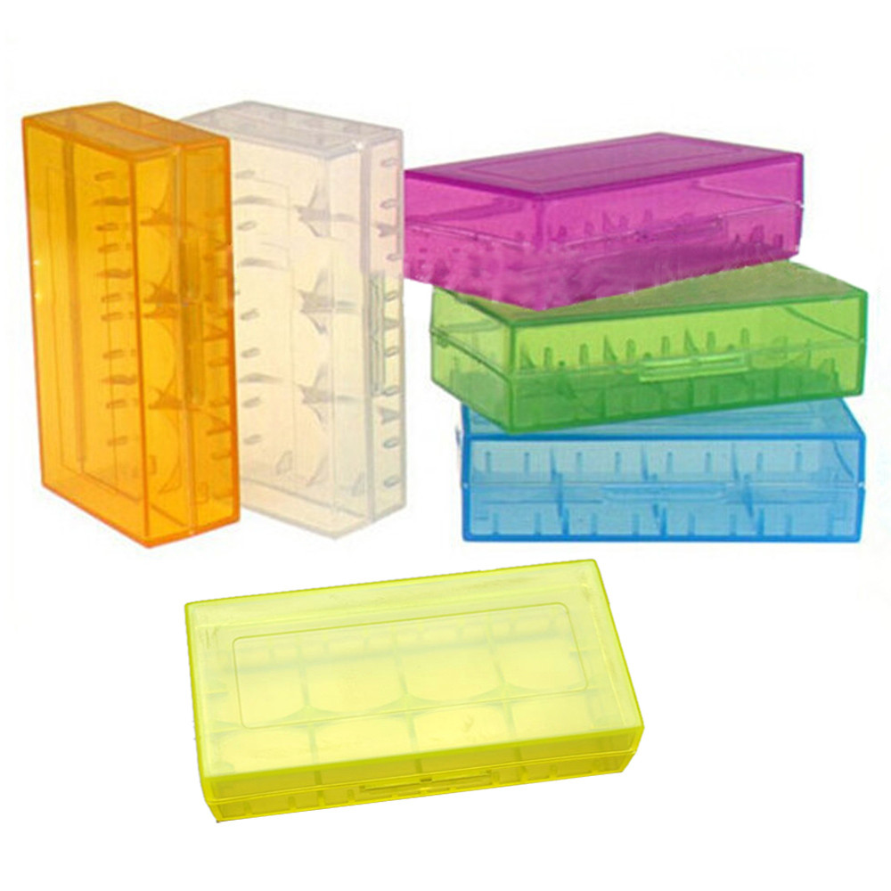 1pc Colorful Plastic Battery Case Holder Storage Box For 18650 CR123A 16340 Battery Container Bag Case Organizer Box Case Ja17