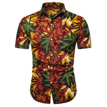 Men's Casual Floral Shirt Hip hop Flower Korean style Hawaiian Shirt for Men Summer Blouse Men Leisure New floral shirt summer flower social shirt for men hawaiian beach style blouse men s clothing fashion slim fit new