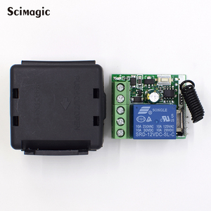 Image 2 - 433Mhz DC12V 1CH Relay Wireless Remote Control Switch 433 MHz RF Receiver Module For Smart Home Switch Transmitter Diy