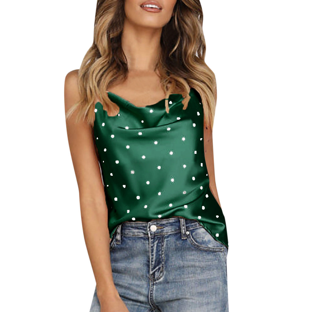 The Cheapest Price Polka-dot Lace Top Women Summer Clothes For Women Sexy V Neck Strappy Dot Print Backless Top Streetwear Shirt Vest Camisole Tops & Tees