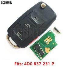 QCONTROL سيارة مفتاح بعيد لتقوم بها بنفسك لأودي 4D0837231P A4 S4 A6 S6 A8 S8 TT Allroad Cabriolet 4D0 837 231 P 1997-2005